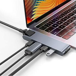 Portable Docking Station,Lightning C+Pro 7-in-1 smart HUB docking station Dual Type-c to HDMI converter USB3.0, SD/MicroSD...