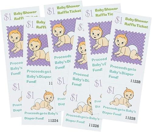100% garantía genuina de contador Baby Baby Baby Shower Raffle Ticket  Fun Game  la mejor oferta de tienda online