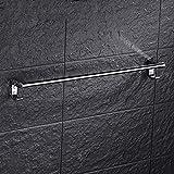 Linjolly Toalla de Toalla de Acero Inoxidable Rack de Toallas de Acero Inoxidable para estantes de baño (Color : Single Layer)