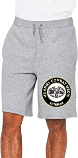 JYPEN US Army Combat Medic Veteran Mens Joggers Shorts Athletic Workout Shorts for Gym Fitness Sports Gray