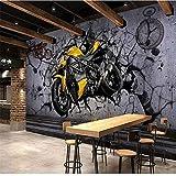 Mural PapelPintado TelaNoTejidamurales De Pared Para Motos Calle Graffiti Papel Tapiz Fotográfico Sala De Estar Decoración Para Bar Fondos De Pantalla Vinilo Autoadhesivo 3D / Papel Tapiz De Seda