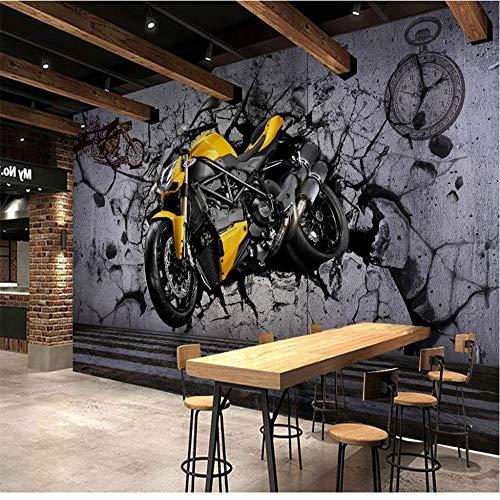 Mural PapelPintado TelaNoTejidamurales De Pared Para Motos Calle Graffiti Papel Tapiz Fotográfico Sala De Estar Bar Decoración Papeles Pintados Papel Tapiz De Vinilo/Seda Autoadhesivo 3D, 350 *