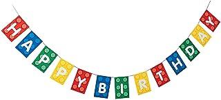 Fun Express - Block Party Garland for Birthday - Party Decor - Hanging Decor - Garland - Birthday - 1 Piece