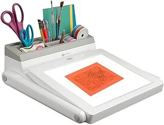 OttLite LED Light Box and Task Lamp Station with 3 Brightness Levels, White