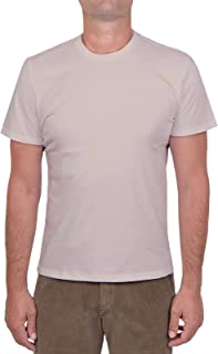 MAJESTIC FILATURES MOD. M537-HTS022 - Camiseta de cuello redondo de algodón Silk Touch para hombre, beige