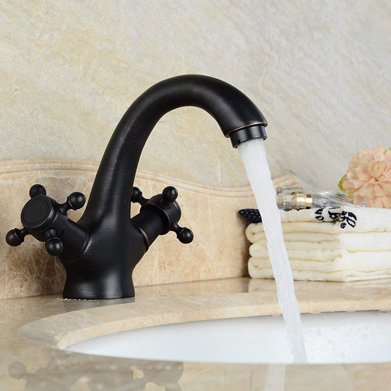 SLTYSCF Faucet Faucet Faucet Antique Brass Faucets Bathroom Faucet Basin Sink Mixer tap swan Neck 534e78