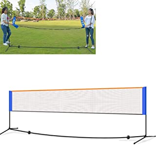 YXZQ Badminton Net, 5.1M Portable Set - Competition Multi Sport Indoor Or Outdoor Net for Playing Pickleball, Kids Volleyb...