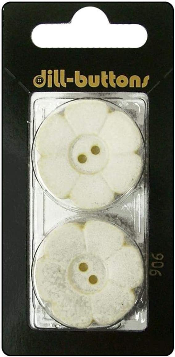 Dill Buttons 28mm 2pc Flower Hole Beige 2 Long Beach In stock Mall