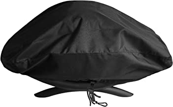 SunPatio Outdoor Grill Cover for Weber Q 100/1000 Series Gas Grills, Waterproof Barbecue Cover, Compared to Weber 7110, Black