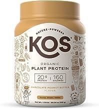 KOS Organic Plant Based Protein Powder, Chocolate Peanut Butter - Delicious Vegan Protein Powder - Gluten Free, Dairy Free...