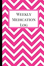 Weekly Medication Log: Medication Log Book, Medication Log Sheet, Medication Record in Portable 6 X 9 Size. Abstract Theme