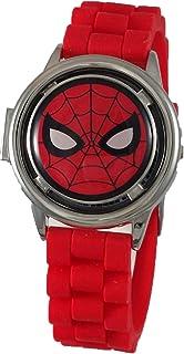 ساعة الرجل العنكبوت 3D سبينر انالوج مع ميزة غطاء رفع