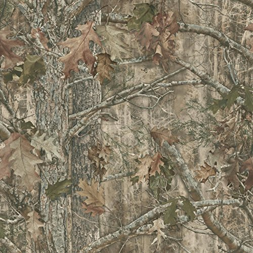York Wallcoverings Kanati (Camo) Water-Activated Removable Wallpaper - Brown |Spray with Water and Hang | Ultra Easy