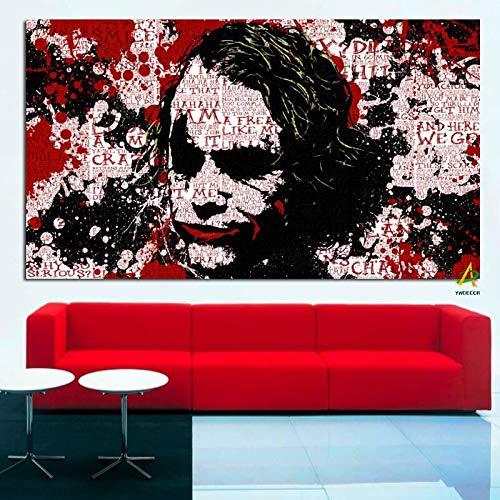 Frameloze schilderij Beroemde clown pop abstracte kunst canvas woonkamer woondecoratie muur print posterZGQ5897 60X100cm