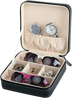 Portable Travel Zipper Box Sunglasses Case for Everyday Glasses Collector Storage