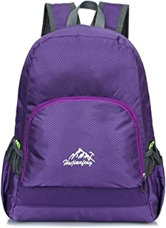 Packable Lightweight Backpack Small Water Resistant Travel Hiking Daypack,Purple