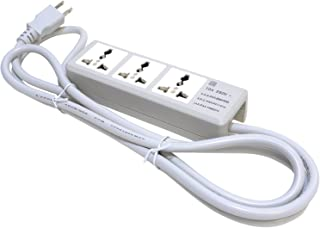 Ceptics Portable Travel Power Strip Charger 3 Universal Outlet Input From 100v-240v Power Sockets, US Cord