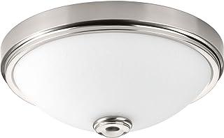 Progress Lighting P350007-009-30 Linen One-Light DC LED Flush Mount, Brushed Nickel