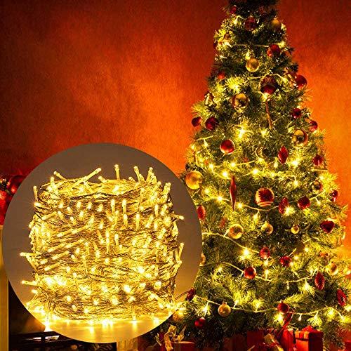Luces Navidad Exterior, Ulinek 100M 500LED Guirnalda Luces Arbol Navidad [2020 Versión Mejorada]IP44 8 Modos Luce Cadena Luz LED Decoracion para Habitacion Interior Jardin Arbol Navidad Fiesta Bodas