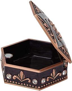 Sutinna Caja de joyería de Metal con Incrustaciones de Diamantes de imitación con Incrustaciones de Mano, Caja de Almacena...