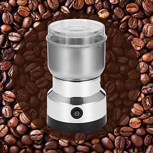 Kaffeemühle Elektrische Kaffeemühle, GGHKDD 150W Fassungsvermögen für Kaffeebohnen Nüsse Gewürze Getreide Kräuter Mühle mit 2 Abnehmbare Edelstahlbehälter mit Edelstahlmesser