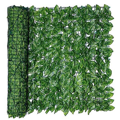 LICHENGTAI Künstliche Efeu Garten Sichtschutz, Balkon Blätter Zäune Sichtschutz, Hecken Zaun und künstliche Efeu Blatt Dekoration für Außendekoration