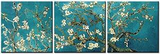 So Crazy Art Peinture sur toile Format triptyque Reproduction du tableau «Amandier en fleurs» peint en 1890 par Van Gogh...