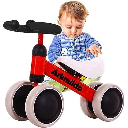 Triciclo per bambini in metallo blu con cestino bici Tricicli bimbo a pedali