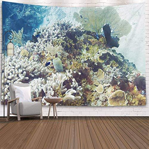 N\A Tapiz de Pared, tapices Deacutecor para Sala de Estar para el hogar de Printed for Tapestries Reef en el océano Atlántico, Gris Claro
