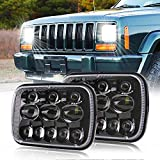 XPCTD Sealed Beam Headlamp 5x7 7x6 Inch Led Headlight with High Low Beam Compatible with Jeep Wrangler YJ Cherokee XJ Comanche MJ GMC Savana Rectangular Replacement H5054 H6054LL 6054 69822 6052 6053