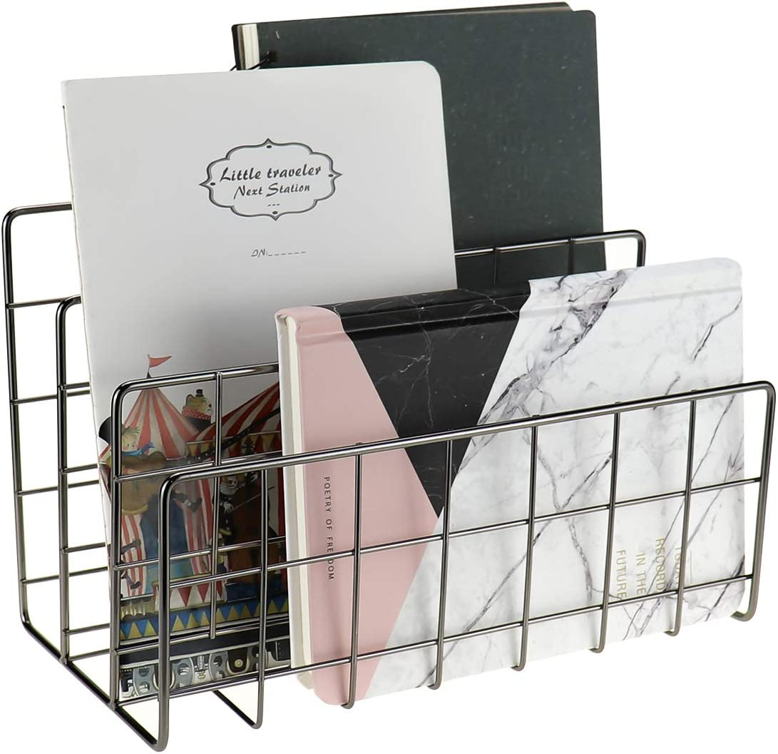 MORIGEM Desktop Mail Organizer 3-Slot L Metal Sorter Wire Max 46% We OFFer at cheap prices OFF