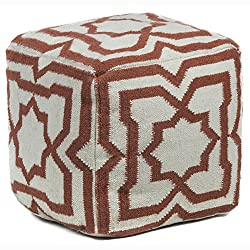 Amazon Chandra Rugs Wool Pouf, 18