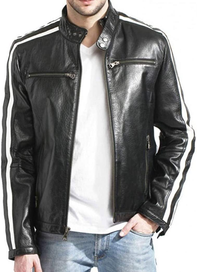 Leon S.K R.E 3 Biker Real Leather Jacket