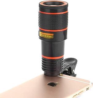Lente de cámara para teléfono Celular Universal 12 Unidades telescopio monocular con Clip Compatible con iPhone Samsung Galaxy Huawei y la mayoría de Smartphones Android Mcjta1