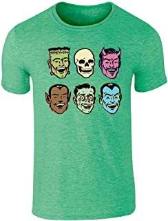 Retro Monster Party Zombie Halloween Costume Graphic Tee T-Shirt for Men