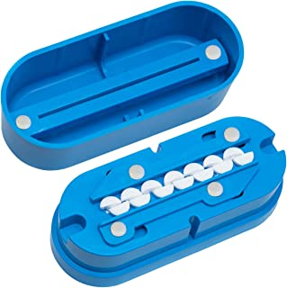 Multiple Pill Splitter. Original Patented Design, with Accurate Pill Alignment, Sturdy Cutting Blade and Blade Guard, for Splitting and Quartering Round or Oblong Pills.US Patent No. 9,827,165.