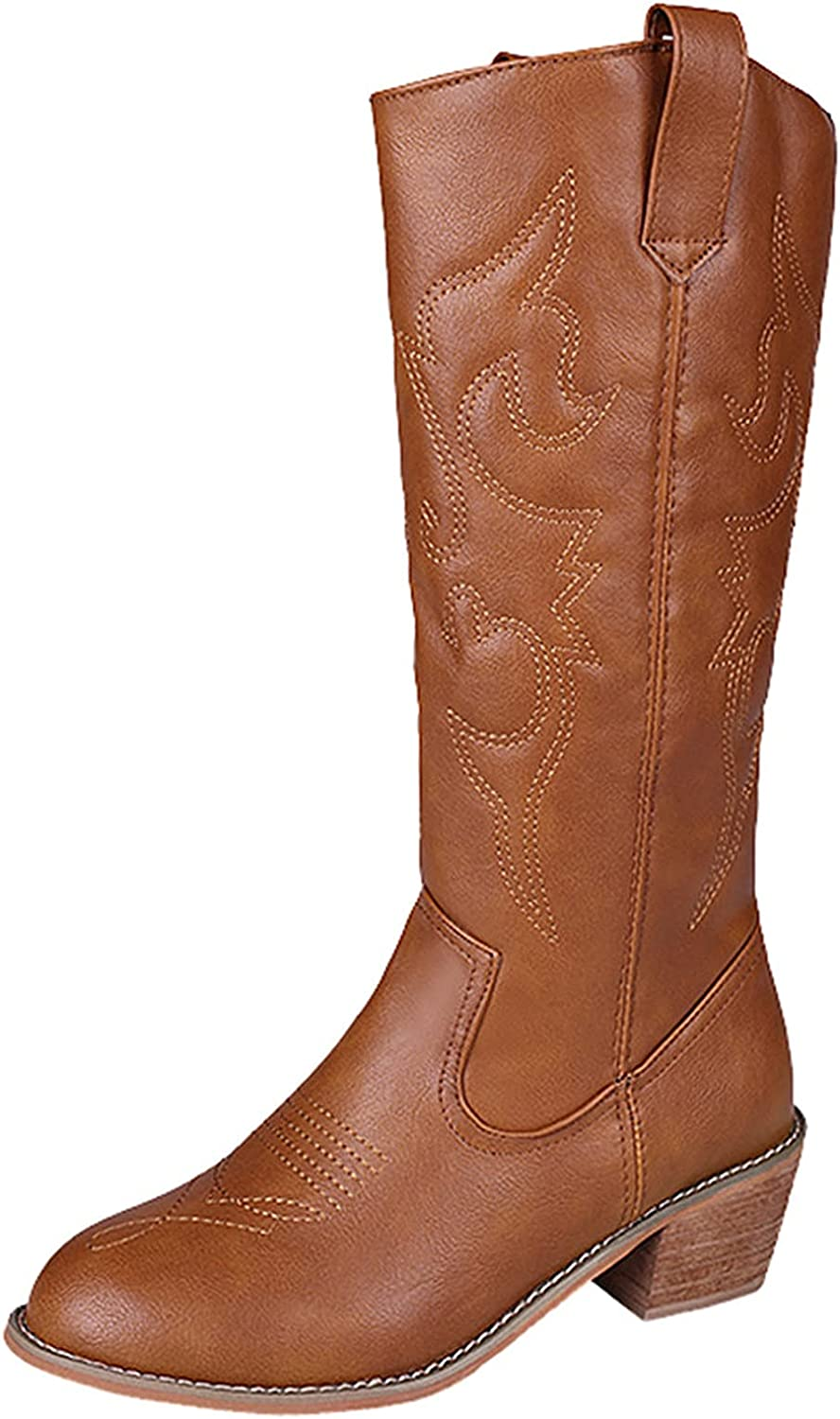 Fullwei Boot for Women Mail order cheap Vintage Cowboy NEW before selling Toe Cowgirl Pointed
