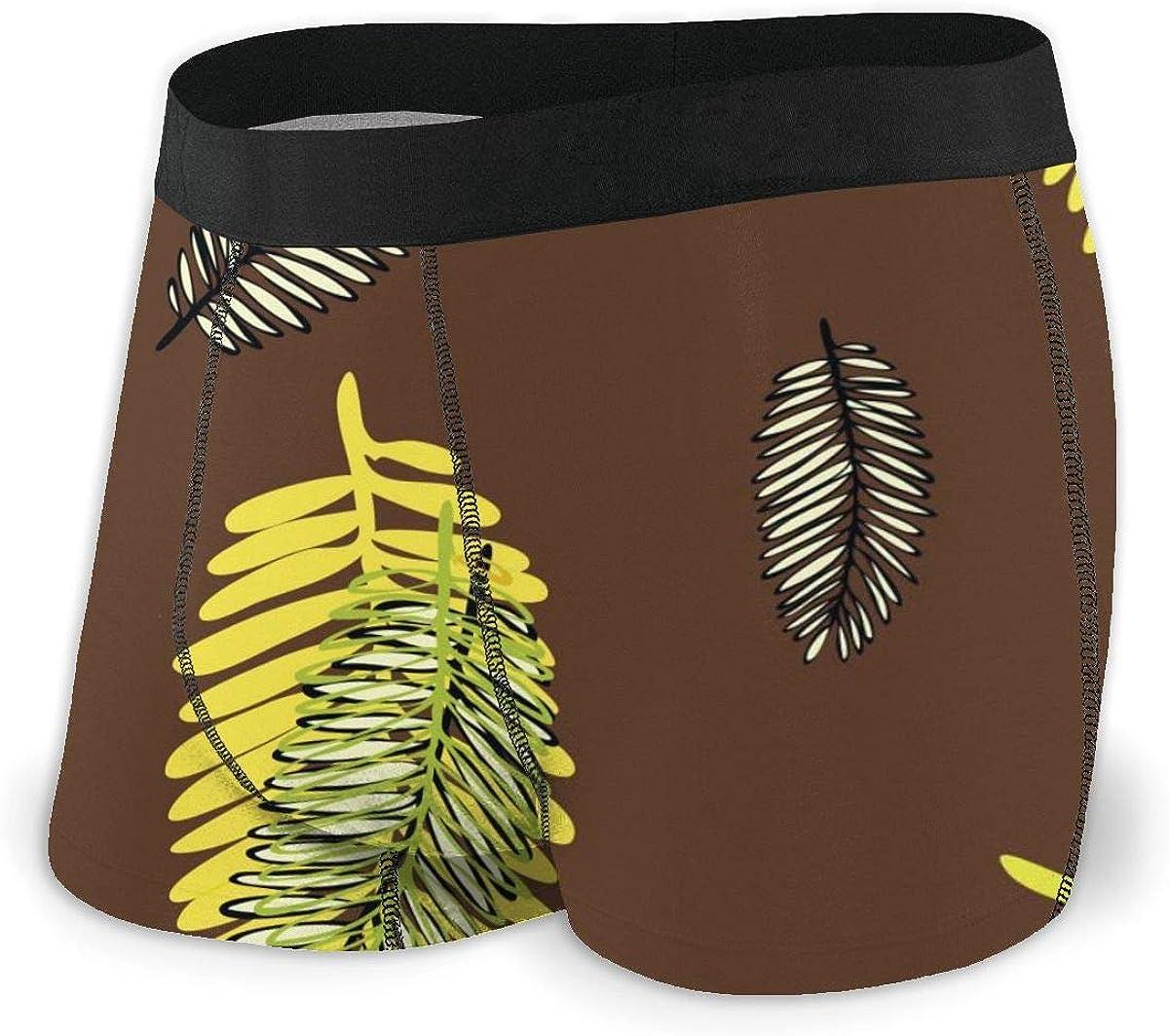 Randolph Wordsworth Mens Boxer Briefs Tropical Tree Leaves Summer Short Leg Breathable Underwear Trunks Men Boys