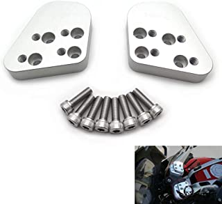 "XKMT- Chrome Compatible With 93-14 BMW R1100/ R1150RT/ R1200RT/ R850/R Series 1"" T6 Billet Handlebar Riser Spacers Set"
