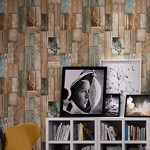 libby-nice Retro Nostalgic 3d Stereo Imitation Striped,wallpaper Restaurant Cafe Bar Personal Color,wooden Board 3d Wallpaper