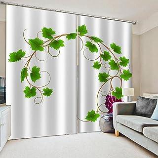 3D高品质印刷 窗帘 隔热 卧室 客厅用 防紫外线 保温 窗帘套装 悬垂窗帘 时尚 高级感的面料 客厅 节能 提高冷暖气效率-葡萄 140*100cm