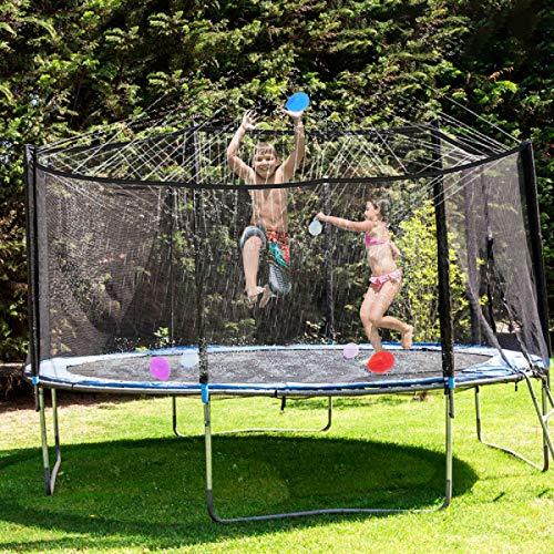FancyWhoop Trampolin Sprinkler Wasserpark 8M/26.2FT Trampolin Sprühnebel Zubehör für Kinder Jungen Mädchen Erwachsene (8m)