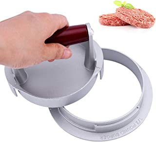 Rbaysale Burger Patty Maker, 5.5inch Burger Press 3 Thickness Adjustable Non Stick Hamburger Patty Maker Mold