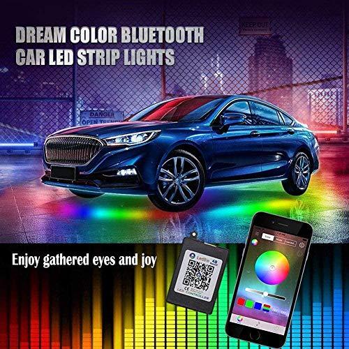 Wewnętrzne oświetlenie samochodowe moda podwozie samochodu RGB paski neonowe kolorowe oświetlenie LED atmosfera lampa akcesoria pilot / aplikacja sterowanie dekoracyjna lampa - aplikacja 90 cm 120 cm aplikacja 90 cm 120 cm aplikacja 90 cm 120 cm aktu