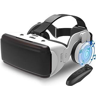 【2021昇級版】Kakugo 3D VRゴーグル ヘッドホン付き VRコントローラー付きiphone Android