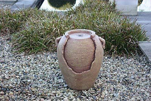 Juego Agua Antiguo Ánfora con Bomba Fuente para Interior y Exterior, Resina