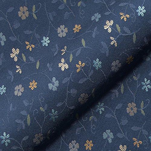 MiBiento Living Stoff Polsterstoff Möbelstoff Bezugsstoff Meterware für Stühle, Eckbänke, etc. - Graubünden Blau Blumen