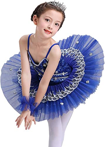 AJJDL Enfants Ballet Tutu Robe Swan Lake MultiCouleure Ballet Gymnastique Justaucorps Danse Robe