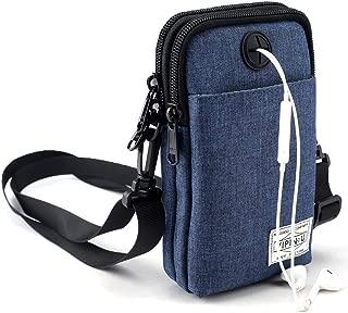 ALAIX Neck Pouch Lightweight Neck Wallet Passport Holder Travel Wallet Messenger Bag Crossbody Bag with Locking Carabiner & adjustable Strap Blue