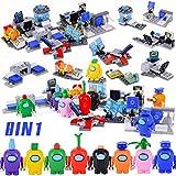 Among Us Figuras Juguetes Bloques de construcción,Mini Figuras Juguetes Kit de Modelos de Personajes Decoraciones de Fiesta para Fanáticos de los Juegos,niños y niñas Regalo de cumpleaños de Navidad